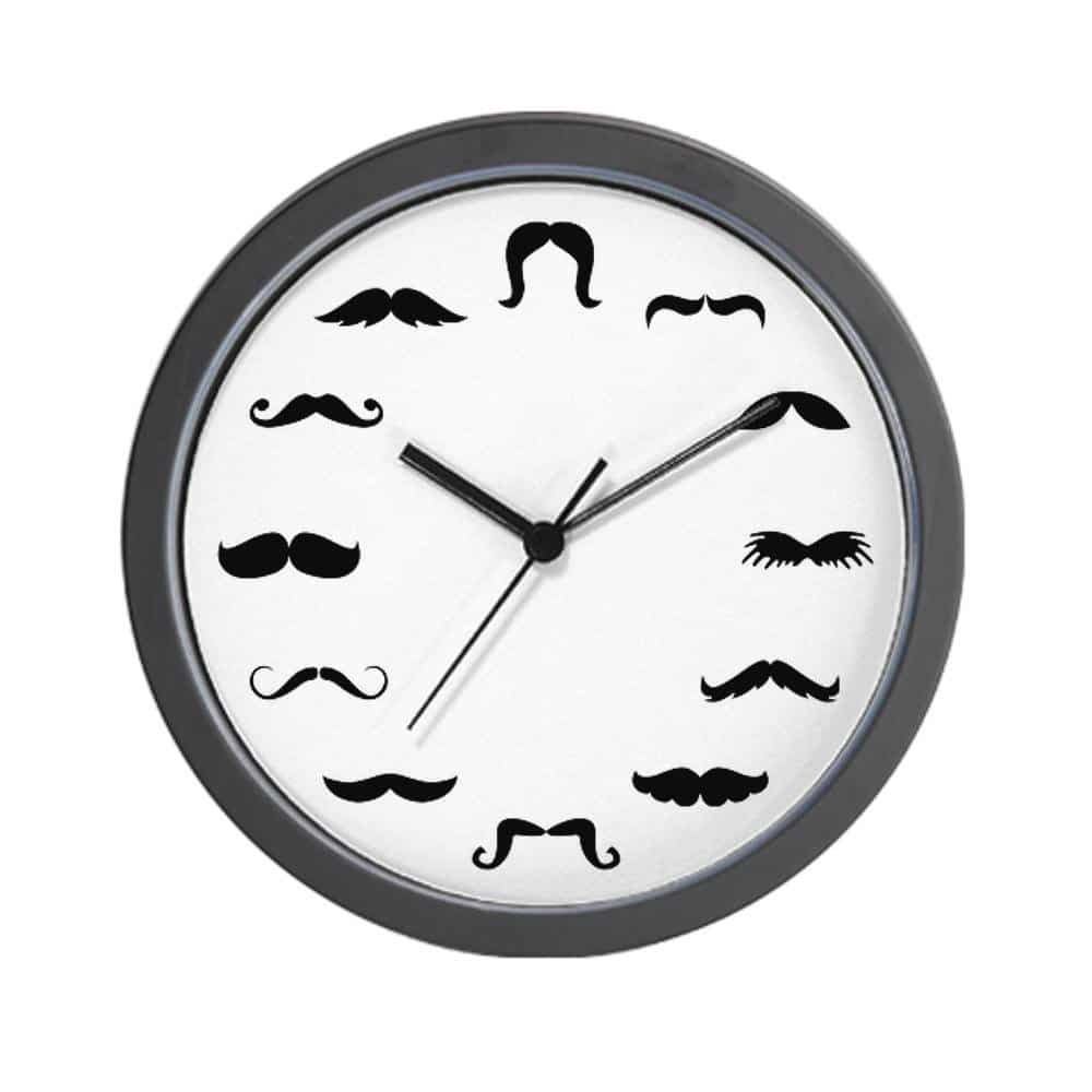 mustache-clock