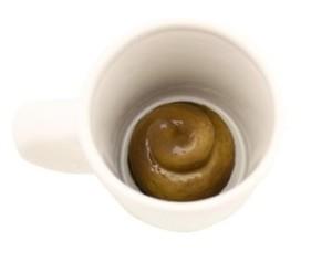 poop in a mug