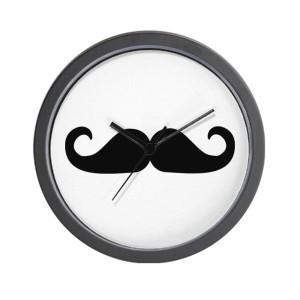 mustache clock