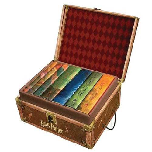 harry potter complete book set - hardcover - treasure chest