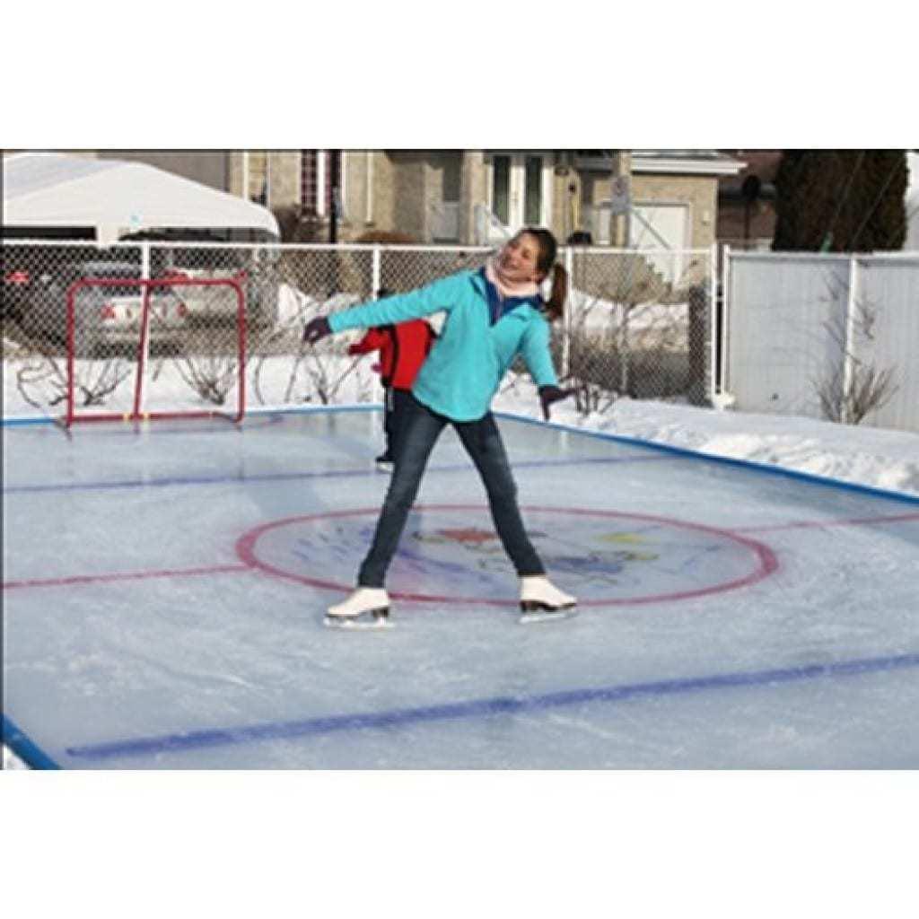 backyard inline hockey rink best 25 synthetic ice rink ideas on