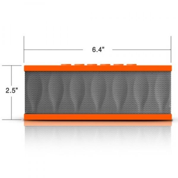 Photive-CYREN-Portable-Wireless-Bluetooth-Speaker-with-Built-in-Speakerphone-8-hour-Rechargeable-Battery-Orange-0-1