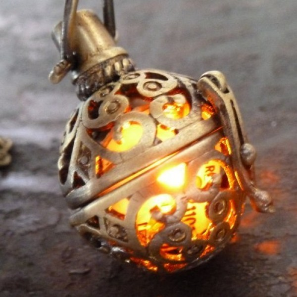Steampunk-FIRE-necklace-pendant-charm-locket-jewelry-GREAT-GIFT-0-3