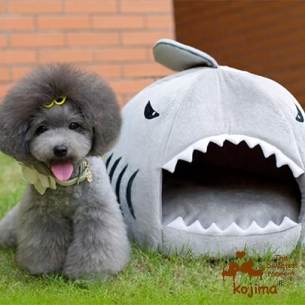 Yosoo-Shark-Round-House-Puppy-Bed-with-Pet-Bed-Mat-Small-to-Medium-Medium-0-0