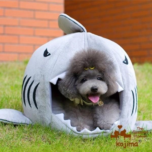 Yosoo-Shark-Round-House-Puppy-Bed-with-Pet-Bed-Mat-Small-to-Medium-Medium-0-1