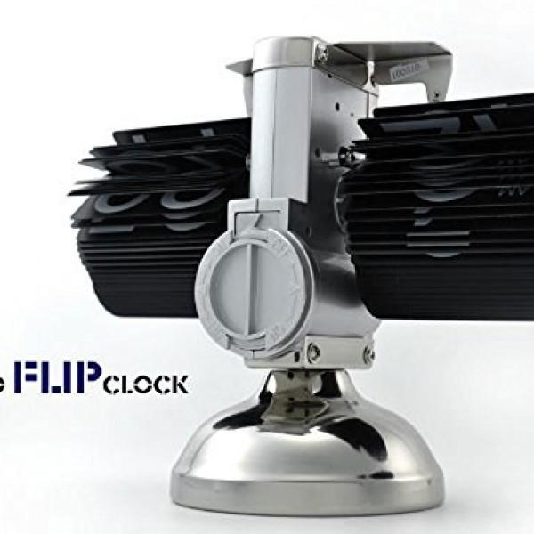 niceeshopTM-Retro-Flip-Down-Clock-Internal-Gear-OperatedBlack-With-Accessory-Cable-Tie-0-0