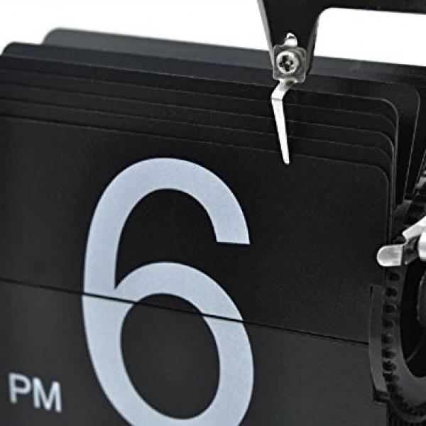 niceeshopTM-Retro-Flip-Down-Clock-Internal-Gear-OperatedBlack-With-Accessory-Cable-Tie-0-5