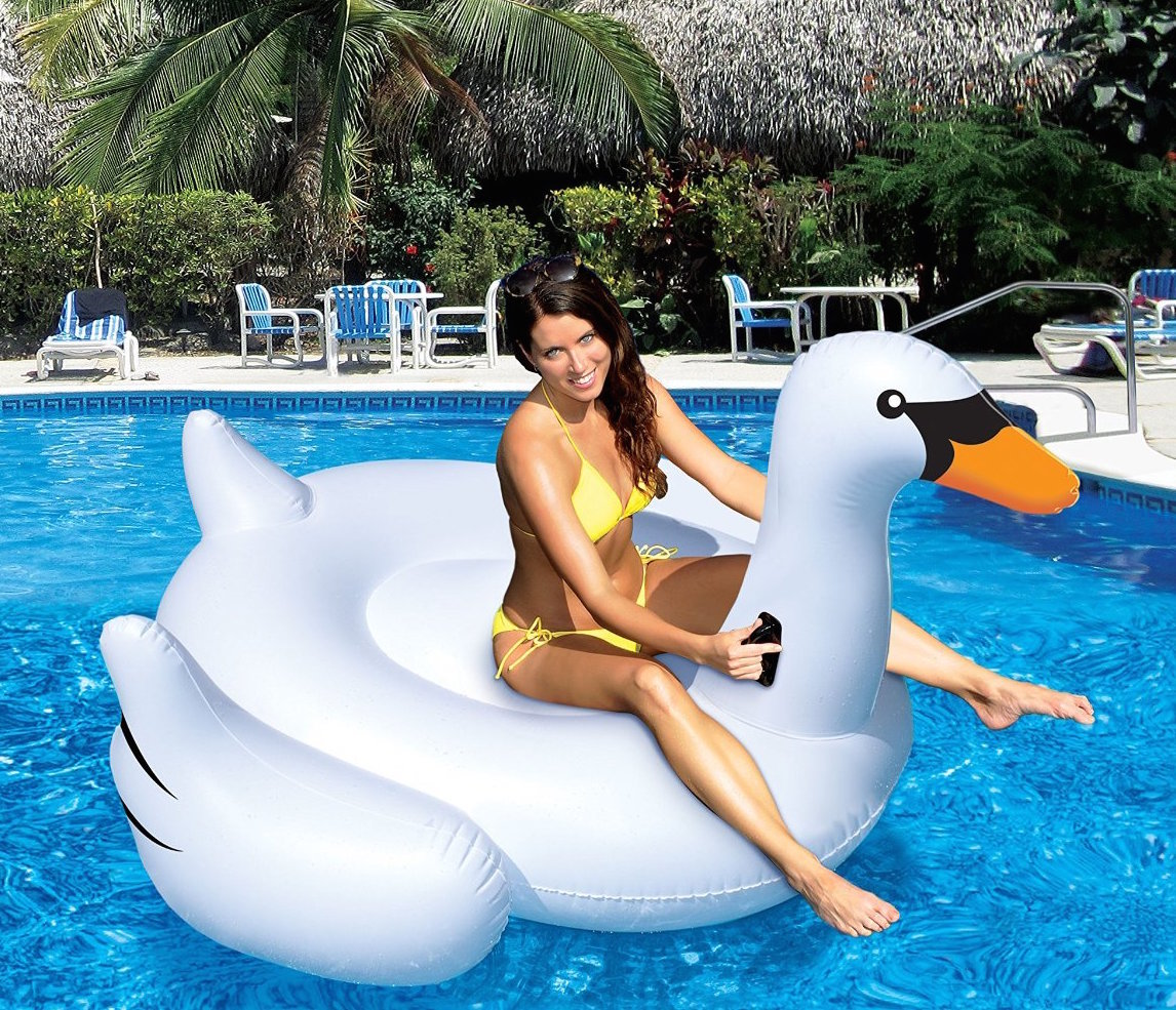 christmas gift ideas for sister - giant swan pool float