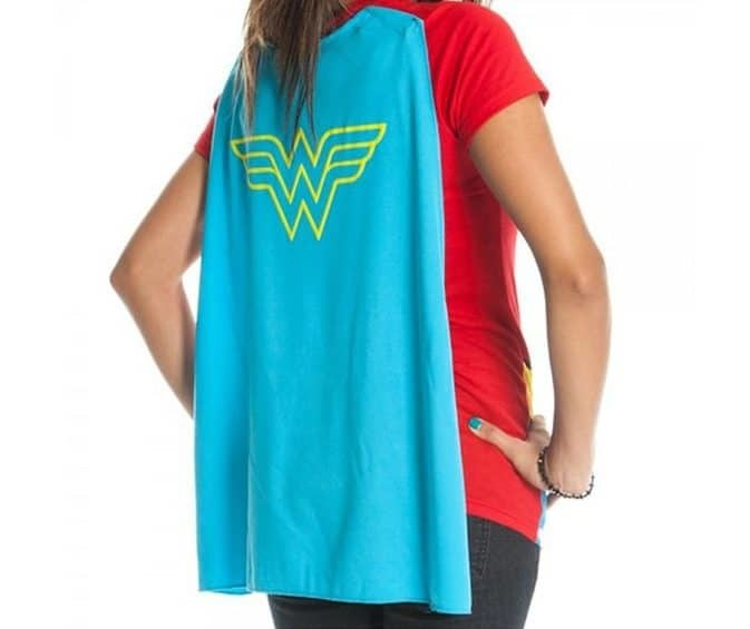 christmas gift ideas for sister - wonder woman cape t-shirt