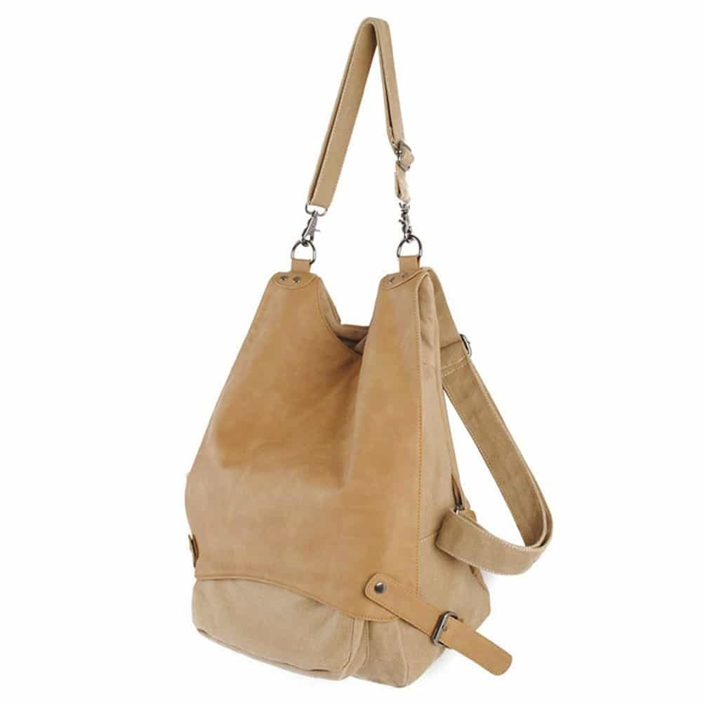 christmas gift ideas for sister - vintage canvas rucksack