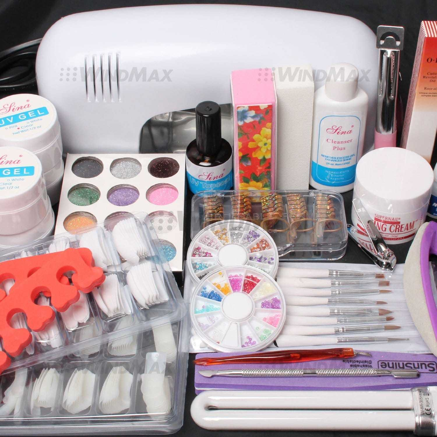 christmas gift ideas for sister - UV gel nail art kit