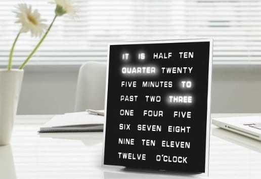 funny gift ideas for best friend - unique-gifts-text-clock
