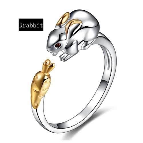 Chinese Zodiac Rabbit Ring