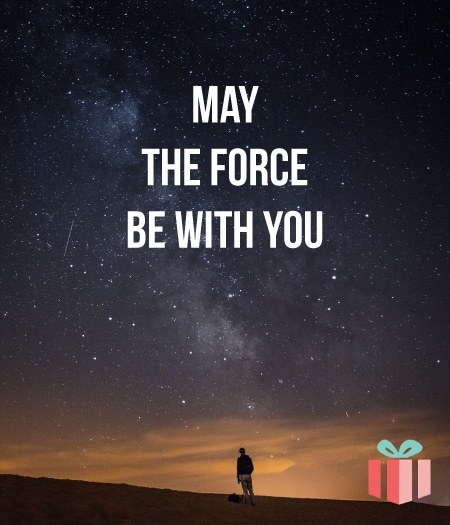 May the Force be with you. May Fourth Star Wars Day gift ideas for fans.