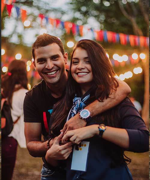 lovely couple at festival cheap date ideas