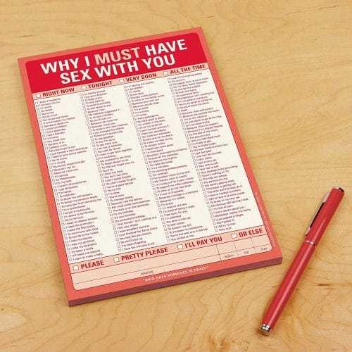 Why I Must Have Sex With You Writing Pad