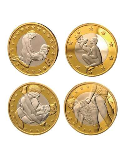 coin collection - naughty gifts for bride