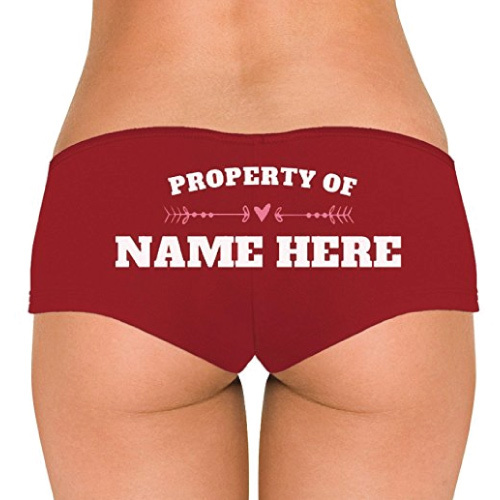 Custom Property Of Underwear (Naughty gifts for women wife girlfriend)