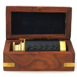 6″ Handheld Brass Telescope with Wooden Box – Pirate Navigation