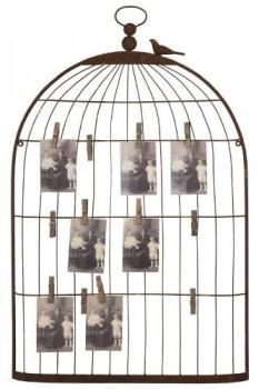 Benzara-Unique-Photo-Holder-as-a-Charming-Bird-Cage-0