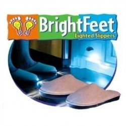 Bright Light Lighted Slippers- Adult- Blue (SMALL)