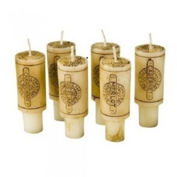 DecoGlow-Wine-Country-Collection-6-Piece-Set-3-Inches-Wine-Cork-Candles-with-Merlot-Scent-0