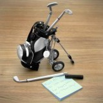 Golf-Pens-with-Golf-Bag-Holder-4-Piece-Set-0
