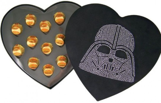 Hard-to-Find-Rare-Star-Wars-Lover-Collectible-Gift-Rhinestone-Jeweled-Darth-Vader-Head-Heart-Shape-Felt-Candy-Box-with-Reeses-Peanut-Butter-Cup-Candies-0