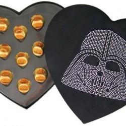 Rhinestone Jeweled Darth Vader Head Felt Box with Galactic Candy