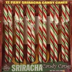 J&D's Foods  Sriracha Candy Cane, 6 Ounces
