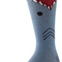 K. Bell Socks Men's Wide Mouth Shark, Blue