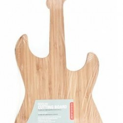 Kikkerland Bamboo Guitar Cutting Board