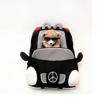 Kojima Design-new Deluxe Cute Cozy Black Car Pet Beds Cover for Small-medium Dog 27.6″x19.7″x7.9″