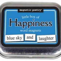 Magnetic Poetry – Little Box of Happiness Kit – Words for Refrigerator – Write Poems and Letters on the Fridge – Made in the USA