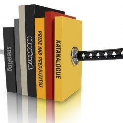 Mustard Katana Bookends – Magnetic Decorative Bookends with Samurai Sword Design