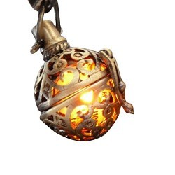 Steampunk FIRE necklace – pendant charm locket jewelry- GREAT GIFT