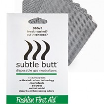 Subtle Butt: disposable gas neutralizers (5 saving graces)