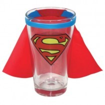 Superman Caped Logo Pint Glass (Fully Licensed ICUP)