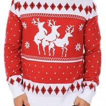 Ugly Christmas Sweater – Reindeer Menage a Trois Sweater by Tipsy Elves