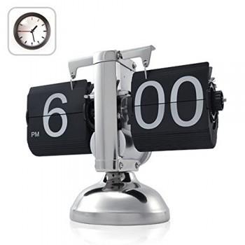 niceeshopTM-Retro-Flip-Down-Clock-Internal-Gear-OperatedBlack-With-Accessory-Cable-Tie-0